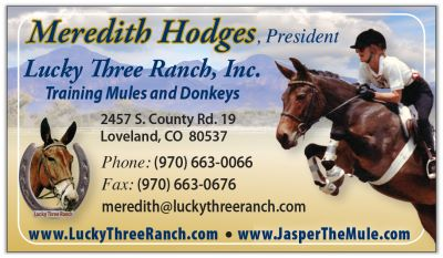 Lucky Three Ranch and Jasper The Mule